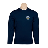 Syntrel Performance Navy Longsleeve Shirt-UC San Diego Crest
