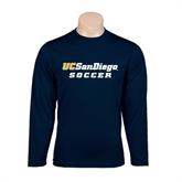 Performance Navy Longsleeve Shirt-Soccer