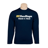 Syntrel Performance Navy Longsleeve Shirt-Track and Field