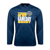 Performance Navy Longsleeve Shirt-UC San Diego Game Day