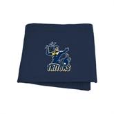 Navy Sweatshirt Blanket-Official Logo