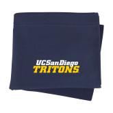 Navy Sweatshirt Blanket-UC San Diego Tritons Mark