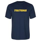 Performance Navy Tee-Tritons Wordmark
