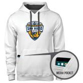 Contemporary Sofspun White Hoodie-UC San Diego Crest