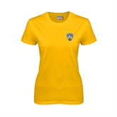Ladies Gold T Shirt-UC San Diego Crest