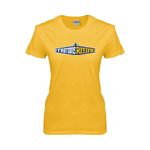 Ladies Gold T Shirt-Tritons Rising