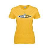 Ladies Gold T Shirt-Tritons Rising