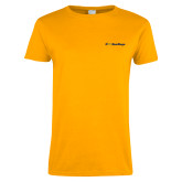 Ladies Gold T Shirt-UC San Diego Primary Mark
