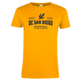 Ladies Gold T Shirt-Established Date