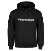 Black Fleece Hoodie-UC San Diego Primary Mark
