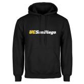 Black Fleece Hoodie-UC San Diego Wordmark