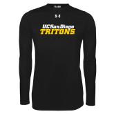 Under Armour Black Long Sleeve Tech Tee-UC San Diego Tritons Mark