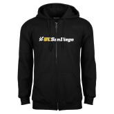 Black Fleece Full Zip Hoodie-UC San Diego Primary Mark