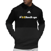 Adidas Black Team Issue Hoodie-UC San Diego Primary Mark