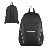 Atlas Black Computer Backpack-UC San Diego Primary Mark