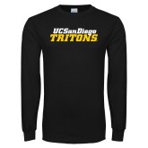 Black Long Sleeve T Shirt-UC San Diego Tritons Mark