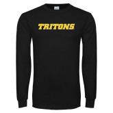 Black Long Sleeve T Shirt-Tritons Wordmark