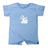Light Blue Infant Romper-Official Logo