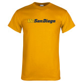 Gold T Shirt-UC San Diego Wordmark