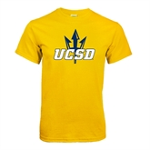 Gold T Shirt-UCSD w/Trident