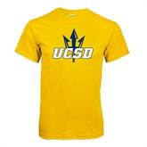 Gold T Shirt-UCSD w/Trident