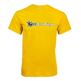 Gold T Shirt-Official Logo w/UC San Diego