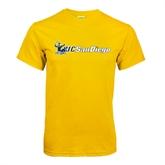 Gold T Shirt-Official Logo w/UC San Diego
