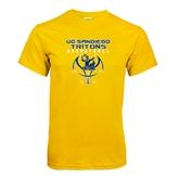Gold T Shirt-Graphics on Ball