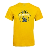 Gold T Shirt-Graphics in Ball