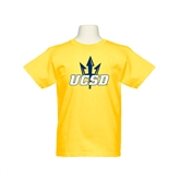 Youth Gold T Shirt-UCSD w/Trident