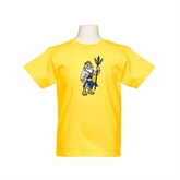 Youth Gold T Shirt-Youth Triton Logo
