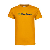 Youth Gold T Shirt-UC San Diego Wordmark