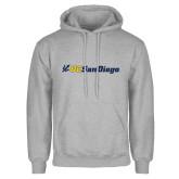 Grey Fleece Hoodie-UC San Diego Primary Mark