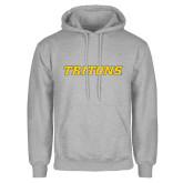 Grey Fleece Hoodie-Tritons Wordmark