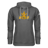 Adidas Climawarm Charcoal Team Issue Hoodie-UCSD w/ Trident