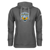 Adidas Climawarm Charcoal Team Issue Hoodie-UC San Diego Crest