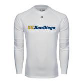 Under Armour White Long Sleeve Tech Tee-UC San Diego
