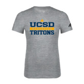 Adidas Sport Grey Logo T Shirt-Adidas UCSD Athletics Logo