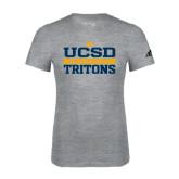 Adidas Sport Grey Logo T Shirt-Adidas UCSD Athletics Logo