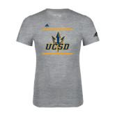 Adidas Sport Grey Logo T Shirt-Adidas UCSD Logo