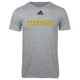 Adidas Sport Grey Logo T Shirt-Tritons Wordmark