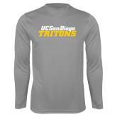 Performance Steel Longsleeve Shirt-UC San Diego Tritons Mark