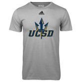 Adidas Climalite Sport Grey Ultimate Performance Tee-UCSD w/ Trident