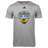 Adidas Climalite Sport Grey Ultimate Performance Tee-UC San Diego Crest