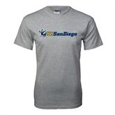 Grey T Shirt-Official Logo w/UC San Diego