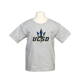 Youth Grey T-Shirt-UCSD w/Trident
