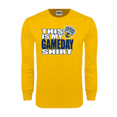 Gold Long Sleeve T Shirt-UC San Diego Game Day