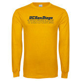 Gold Long Sleeve T Shirt-UC San Diego Tritons Mark