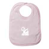 Light Pink Baby Bib-Official Logo