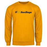 Gold Fleece Crew-UC San Diego Primary Mark